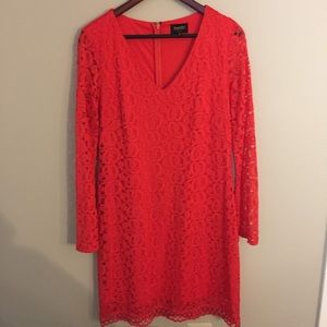 Laundry by Shelli Segal Red Long Sleeve Dress